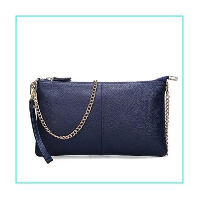 【新品】SEALINF Women's Cowhide Leather Clutch Handbag Small Shoulder Bag Purse (sapphire chain)(並行輸入品)