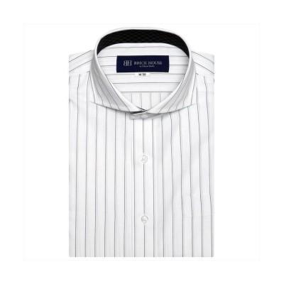 (TOKYO SHIRTS/トーキョーシャツ)ワイシャツ 半袖 形態安定 ホリゾンタル 再生ポリエステル/メンズ クロ・グレー