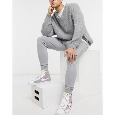 エイソス ASOS DESIGN メンズ ジョガーパンツ スキニー ボトムス・パンツ Asos Design Skinny Joggers In Grey Marl グレー