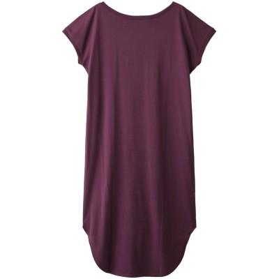 HELIOPOLE エリオポール 【THREE DOTS】Water Color long tee dress/ドレス レディース パープル S