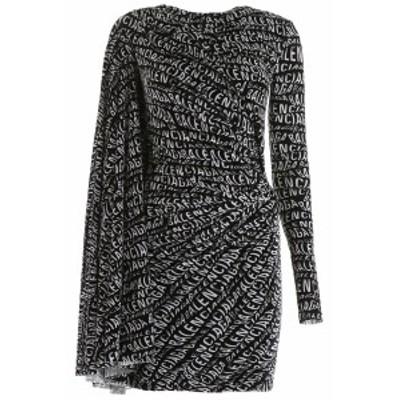 BALENCIAGA/バレンシアガ ドレス BLACK Balenciaga stretch dress with all-over logo レディース 秋冬2019 583827 TFL25 ik