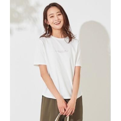 L size ONWARD(大きいサイズ) / バックプリント Tシャツ WOMEN トップス > Tシャツ/カットソー