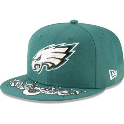 ニューエラ メンズ 帽子 アクセサリー Philadelphia Eagles New Era 2019 NFL Draft On-Stage Official 59FIFTY Fitted Hat