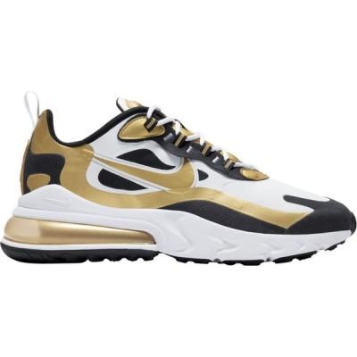 ナイキ メンズ エアマックス270 Nike Air Max 270 React スニーカー White/Metallic Gold/Black