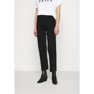 リーバイス デニムパンツ レディース ボトムス RIBCAGE STRAIGHT ANKLE - Straight leg jeans - black heart