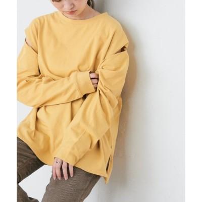 tシャツ Tシャツ 【ZOZO限定】3WAY天竺スリーブスリットロンT