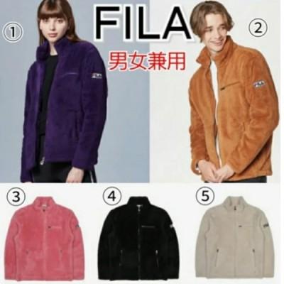 FILA フィラ クレマ フリースジャケット 黒 ベージュ ピンク 茶 紫 メンズ レディース
