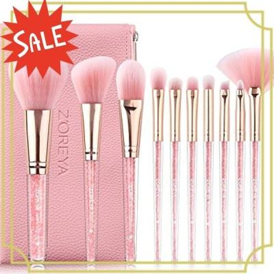 メイクブラシ コスメブラシ 化粧筆 専用の化粧ポーチ付き、携帯便利 可愛い 10本セッ本セット