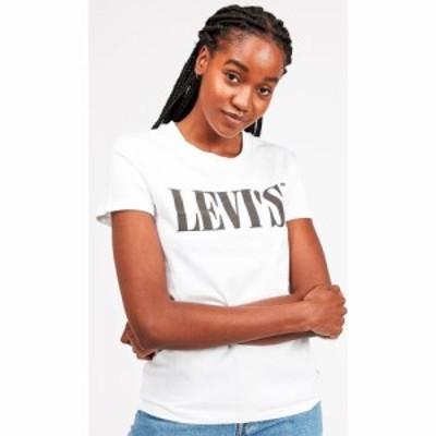 リーバイス Levis レディース Tシャツ トップス Perfect T-Shirt Serif White