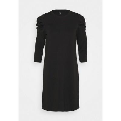 オンリー プティ ワンピース レディース トップス ONLVIOLA DRESS PETIT - Jersey dress - black