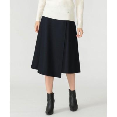 MACKINTOSH LONDON/マッキントッシュ ロンドン  ウール圧縮スムーススカート ネイビー 36