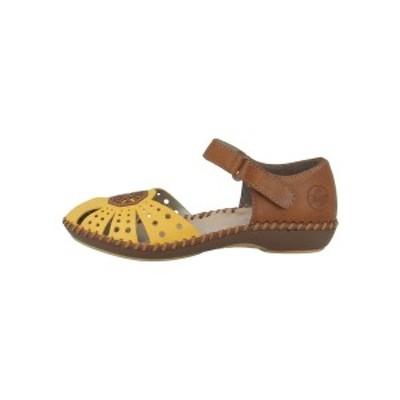リーカー レディース サンダル シューズ Sandals - yellow-cayenne (m1666-69) yellow-cayenne (m1666-69)