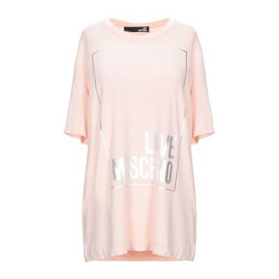 ラブ モスキーノ LOVE MOSCHINO T シャツ ライトピンク 44 レーヨン 94% / ポリウレタン 6% T シャツ