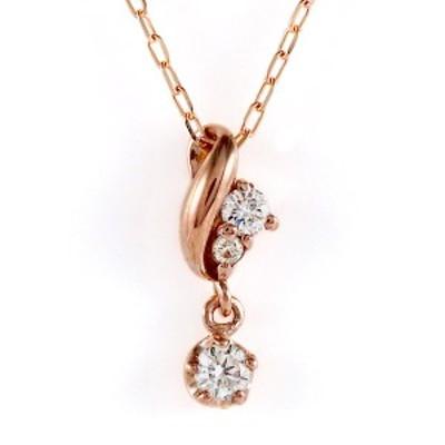 ピンクゴールド 10金 K10 ダイヤモンド シンプル ネックレス 金ネックレス カラット 人気 おすすめ プレゼント
