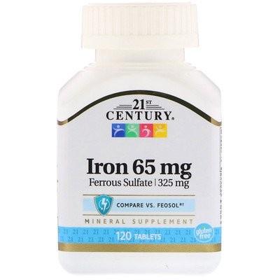 鉄, 65 mg, 120錠