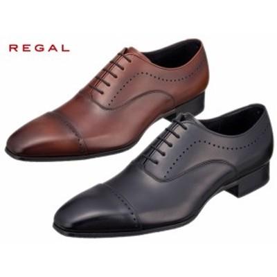 REGAL リーガル 11LR BD ブラック ブラウン クォーターブローグ