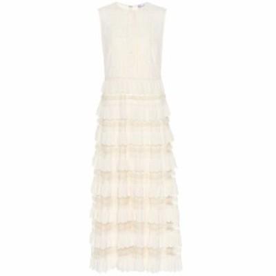レッド ヴァレンティノ REDValentino レディース ワンピース ワンピース・ドレス Scalloped tulle maxi dress Avorio