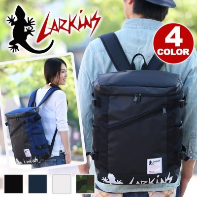 リュックサック LARKINS ラーキンス スクエア リュック デイパック バックパック ブランド メンズ レディース ブランド A4 B4 サイドポケット 旅行 レジャー