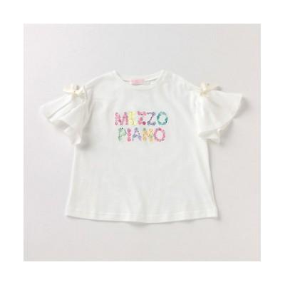 <メゾ ピアノ/メゾ ピアノ> フルーツロゴ フレア袖Tシャツ オフホワイト【三越伊勢丹/公式】