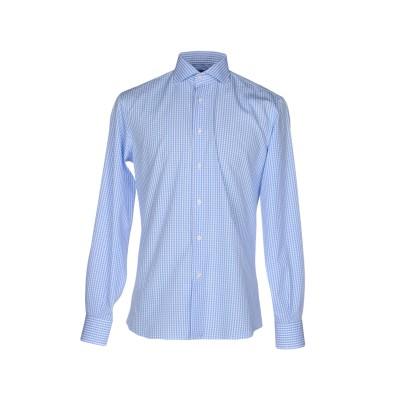 TRU TRUSSARDI シャツ アジュールブルー 44 コットン 100% シャツ