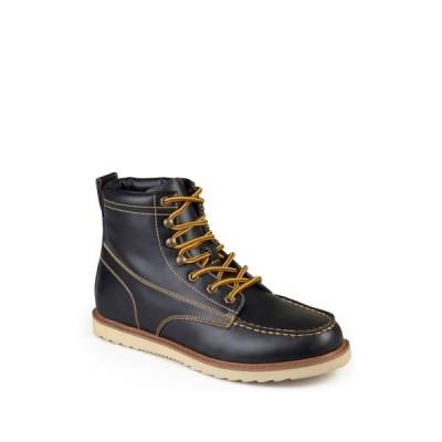 バンス メンズ ブーツ&レインブーツ シューズ Wyatt Mock Toe Boot BLACK