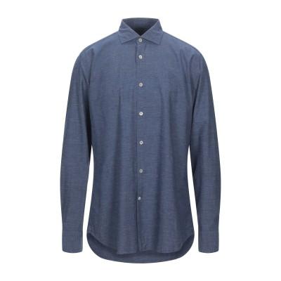 GUGLIELMINOTTI シャツ ダークブルー 44 コットン 80% / リネン 20% シャツ