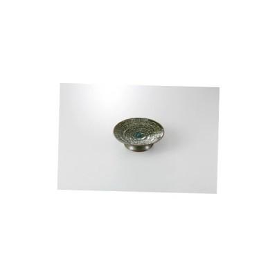 和食器 緑釉彫刻入 高台皿 36M171-05 まごころ第36集 【キャンセル/返品不可】