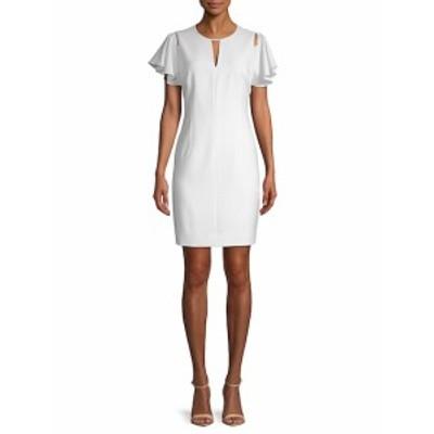 T タハリ レディース ワンピース Lovie Ruffle-Sleeve Sheath Dress