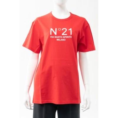 ヌメロヴェントゥーノ N°21 Tシャツ 半袖 丸首 クルーネック レッド レディース (F051 6314) 送料無料 2021年春夏新作 2021SS_SALE