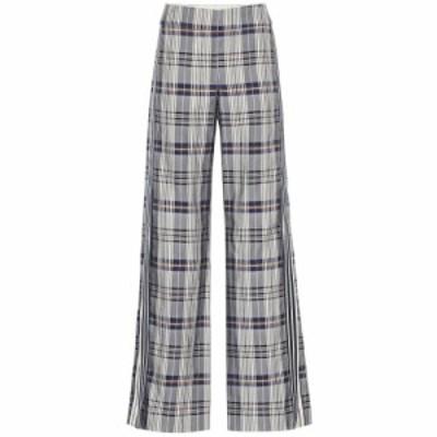 モンス Monse レディース ボトムス・パンツ Checked cotton-blend wide-leg pants Vintage Plaid