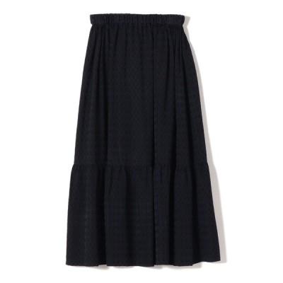 【シップス ウィメン】PrimaryNavyLabel:ジャガードギャザースカート