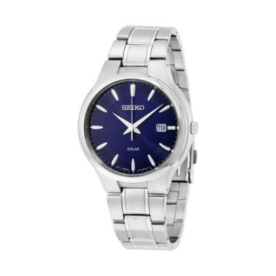 腕時計 セイコー Seiko ソーラー ブラック ダイヤル ステンレス スチール メンズ 腕時計 SNE403