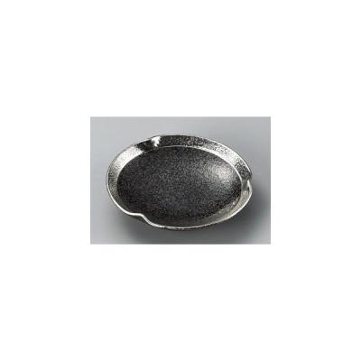 黒ちらし渕銀巻5.0三つ押丸皿 23308-469