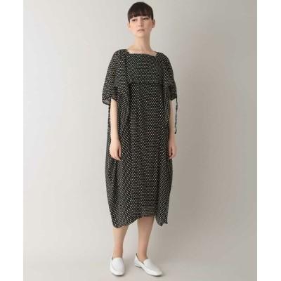 HIROKO KOSHINO/ヒロココシノ 【洗える/日本製】ドットマジョリカプリーツドレス ブラック 38