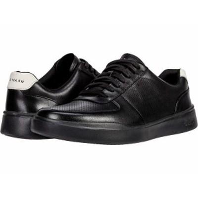 コールハーン メンズ スニーカー シューズ Grand Crosscourt Modern Perforated Sneaker Black/White