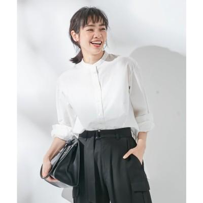 組曲 【KMKK】ピースダイ バンドカラーシャツ(KF25) (ホワイト系)