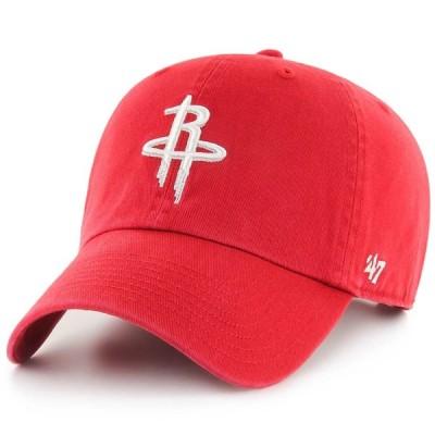 NBA ヒューストン・ロケッツ キャップ/帽子 クリーンナップ アジャスタブル 47 Brand レッド