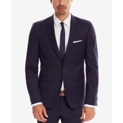 ヒューゴボス ジャケット&ブルゾン アウター メンズ BOSS Men's Extra-Slim-Fit Super 120 Italian Virgin Wool Sport Coat NAVY