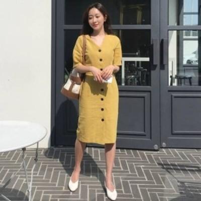 ワンピース 大きいサイズ 半袖 春ワンピース 春 韓国 ファッション レディース 韓国 レディース ファッション ワンピース 新作 トレンド