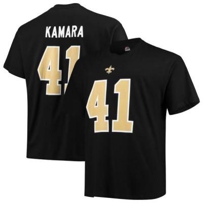 ユニセックス スポーツリーグ フットボール Alvin Kamara New Orleans Saints Majestic Big & Tall Eligible Receiver III Name & Number T