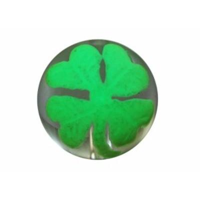 彫刻ビーズ 水晶手彫り玉 (夜光) 四つ葉のクローバー 彫り水晶10mm 1粒売り バラ売り 手作りにオススメ! 天然石 パワーストーン