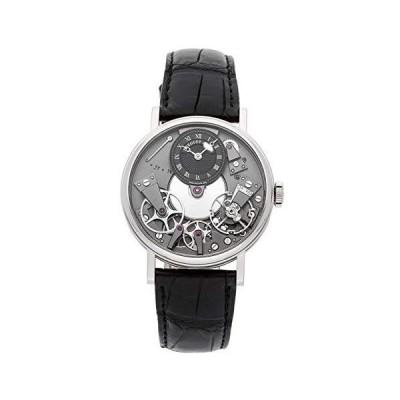 Breguet Tradition Black Skeleton Dial 18kt White Gold Black Leather Mens Watch 7027BBG99V6[並行輸入品]