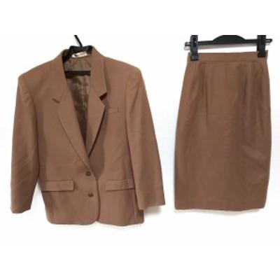 ニューヨーカー NEW YORKER スカートスーツ サイズ7 S レディース ブラウン ladies【還元祭対象】【中古】20200628