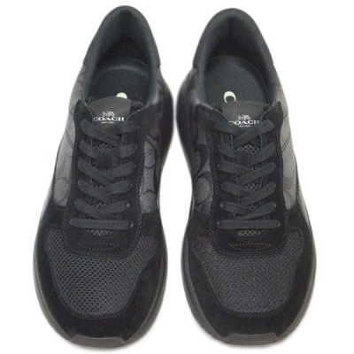コーチ シューズ FG3511-BK/BK メンズ スニーカー テック ランナー シグネチャー ブラック/ブラック サイズ 9 D(27cm) アウトレット