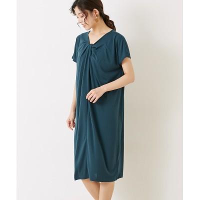 【earth music&ecology】。前後2wayねじりワンピース (ワンピース)Dress
