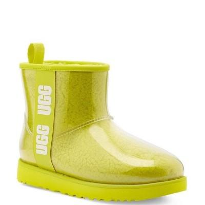 アグ レディース ブーツ&レインブーツ シューズ UGG Classic Clear Mini Waterproof Boots Sulfur