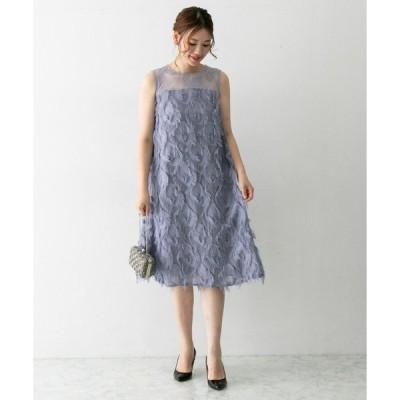 ドレス Chaco×ROSSO フリンジAラインドレス