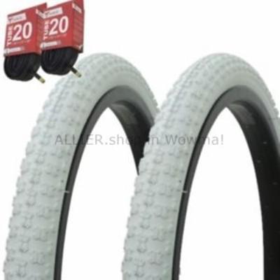 """BMX 1ペア! 自転車用自転車用タイヤ チューブ20 """"×1.75""""ホワイト/ホワイトサイドウォールBMX COMP3  1PA"""