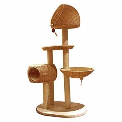 キャットタワー突っ張り猫タワー純木の猫登山フレーム巨大サイズ ネコタワ (中古品)