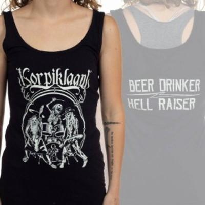 コルピクラーニ Korpiklaani レディース タンクトップ トップス Beer Drinkers Hell Raiser Black